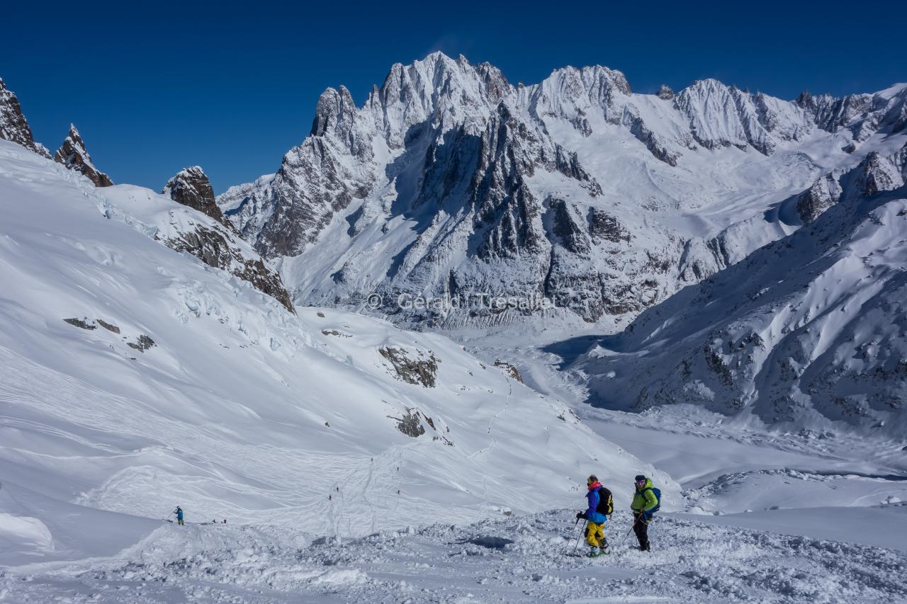 Vallée Blanche en ski.