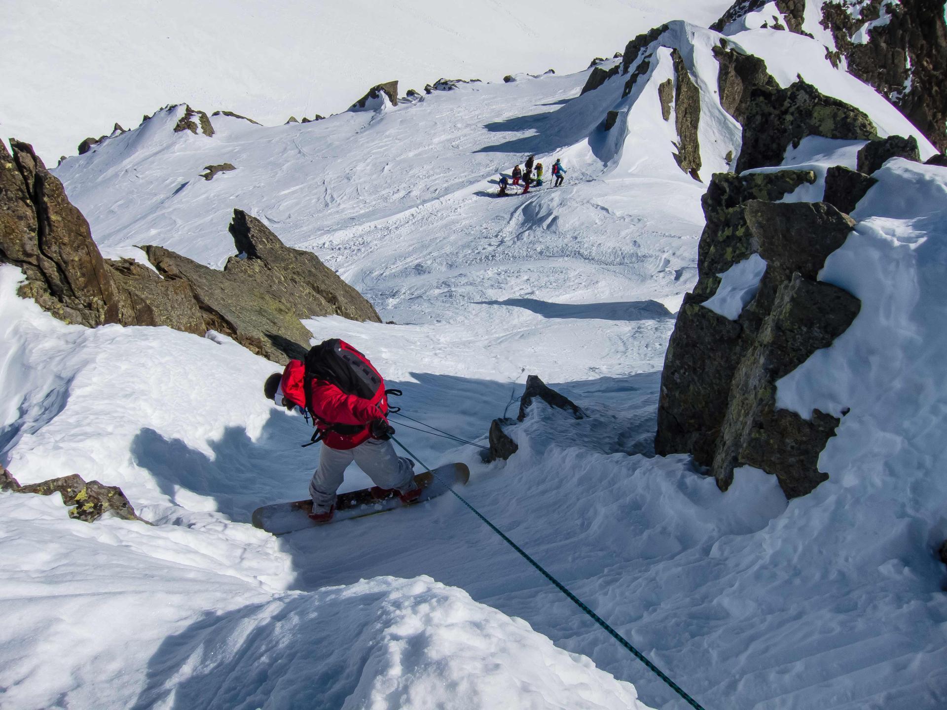 Départ (facultatif) du sommet de l'Aiguille Pourrie