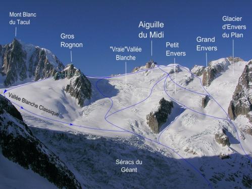 Vallee blanche descentes hors pistes